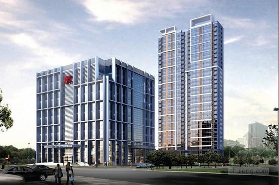 [山东]现代风格写字楼及住宅综合性建筑设计方案文本