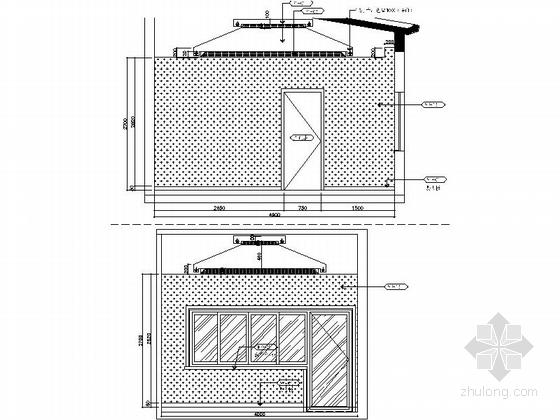 [昆山]新古典双层别墅样板房装修图(含效果)主卧室立面图