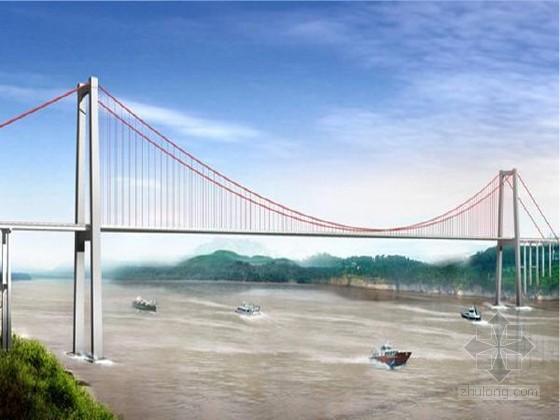 [湖北]双塔门式长江悬索大桥60X61X49.5m重力式锚碇施工组织设计120页