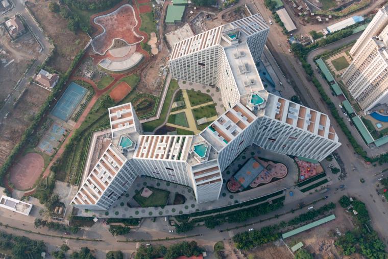 印度浦那未来之塔建筑-0705_Future_Towers_Pune_©Ossip