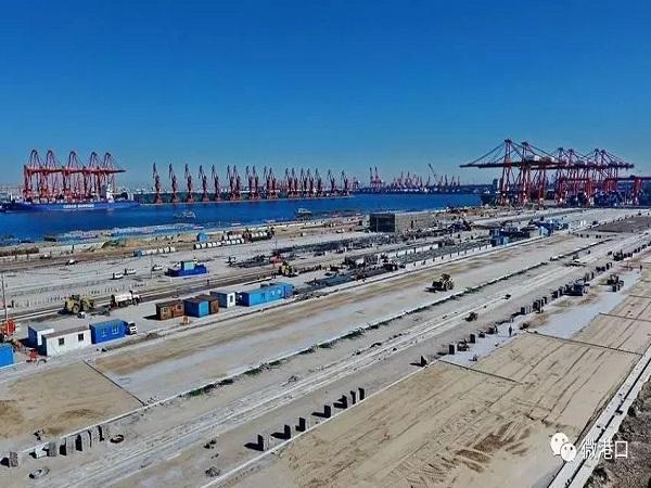 中国北方港口第二个全自动化码头正抓紧建设