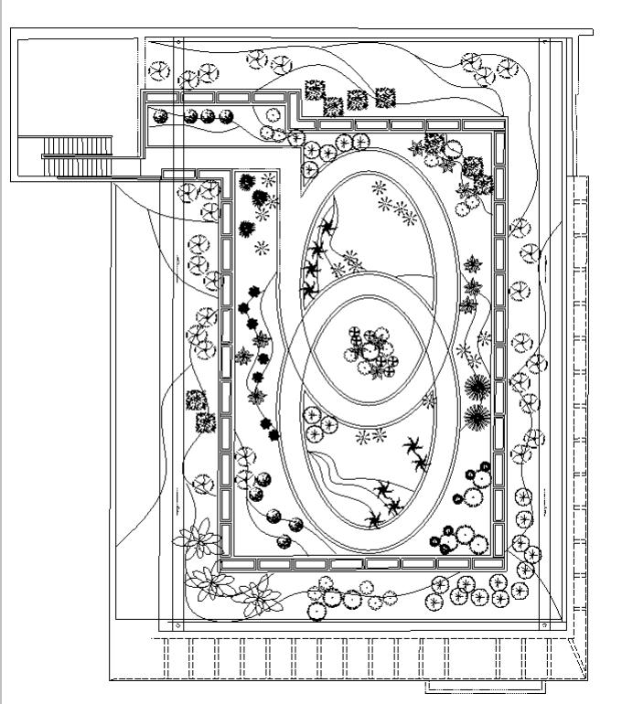 某行政办公楼屋顶绿化施工图