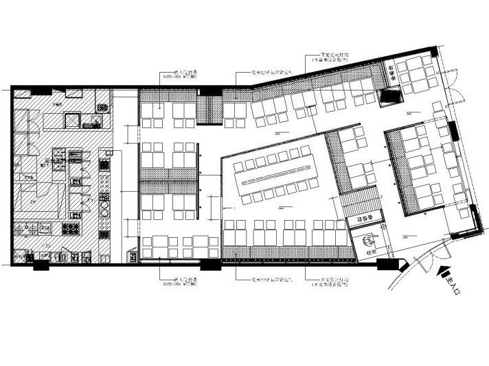 [上海]味千拉面餐饮空间设计施工图(附效果图)