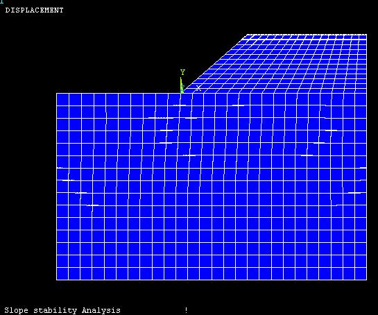 F=1时边坡变形图