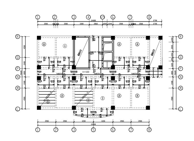 9层框剪结构宾馆结构施工图(CAD、37张)_4