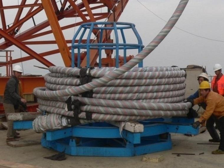 非对称独塔双索面预应力混凝土槽形梁斜拉桥斜拉索施工方案