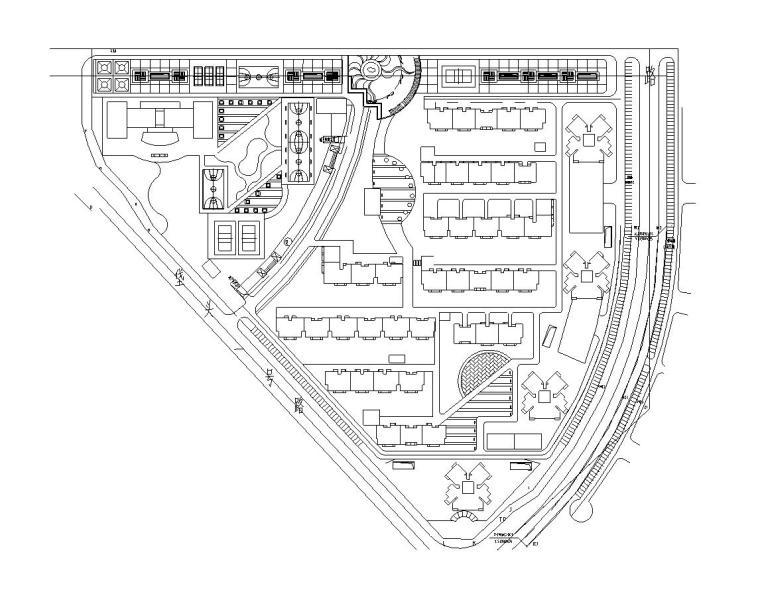 [北京]华鼎世家居住区全套景观设计施工图设计(CAD)
