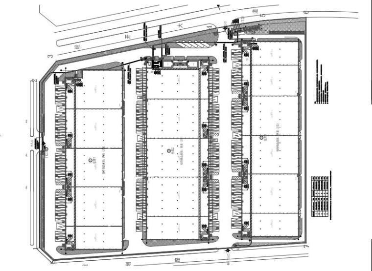 江西省大型物流仓储园区全套施工图