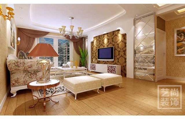 升龙天汇广场88平米两室两厅装修效果图