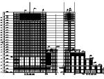 功能复杂的综合商业办公楼施工图