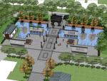 中式风格小区景观设计SU模型