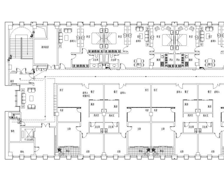 启东市市级机关后勤服务中心电气设计最新图纸