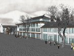 商业街东方新古典2-4层中式商业建筑(su模型)
