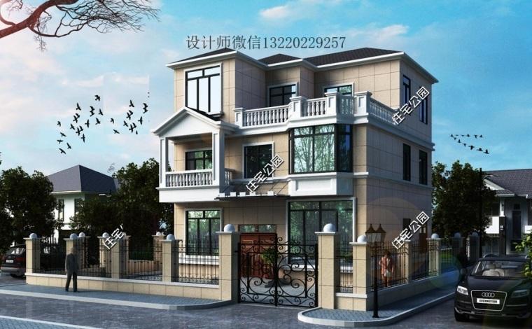 占地95平米農村2層半自建房設計圖磚混結構三層小樓房施工圖