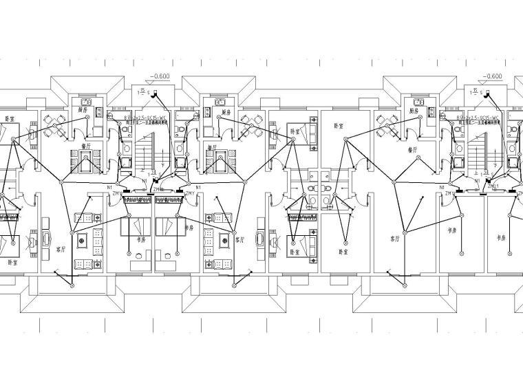 VV住宅资料下载-天都馨苑住宅小区24楼电气施工图