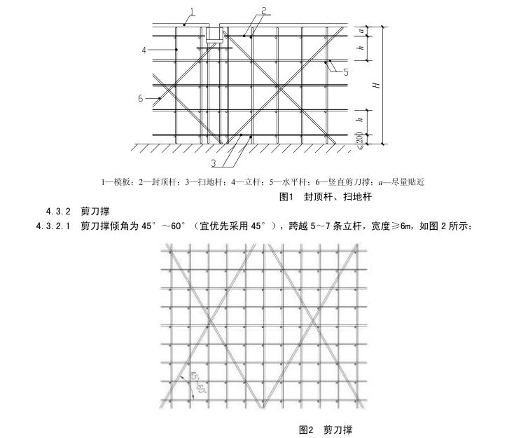 建筑施工模板及作业平台钢管支架构造安全技术规范(DB45T618-2009)