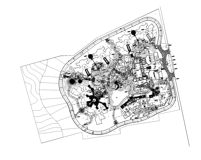 [广东]深圳翠茵豪庭居住区景观CAD施工图