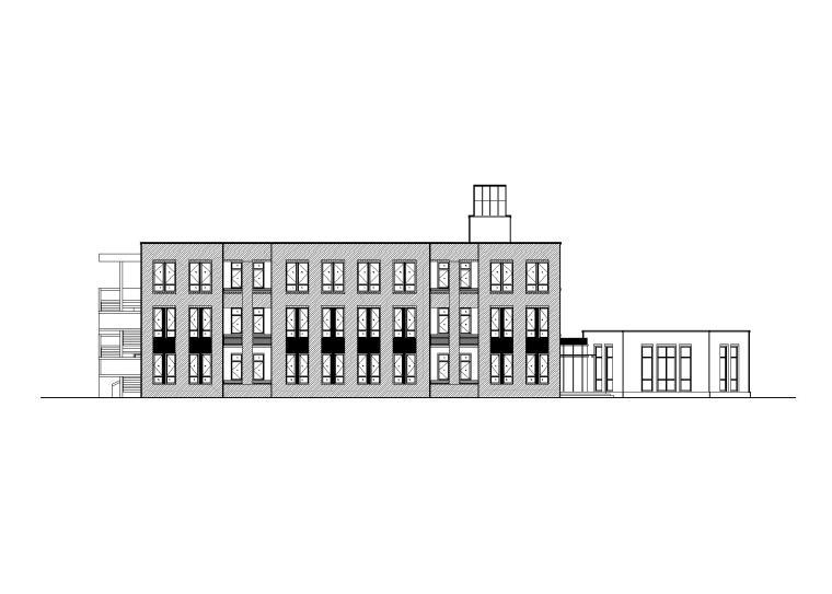 某幼儿园建筑施工图(CAD图纸+效果图)