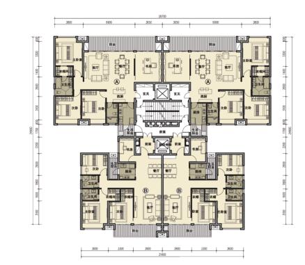 [广州]别致立面一梯一户高层住宅建筑设计方案文本(含SU、CAD)_10