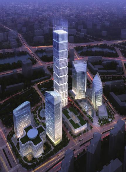 [北京]绿地集团超高层办公商务中心规划设计(含模型、CAD文件)