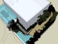 商业办公旁边庭院景观设计(su模型)
