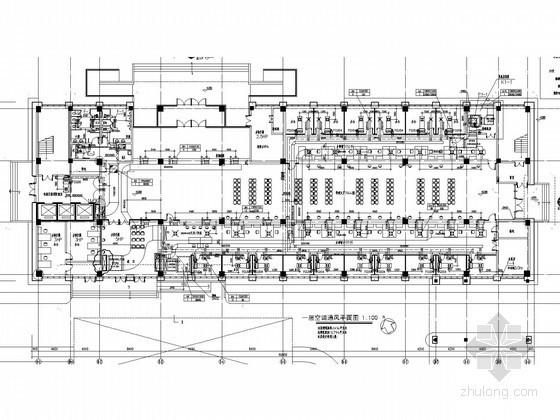 [江苏]文化服务中中空调通风及防排烟系统设计施工图(含节能设计)