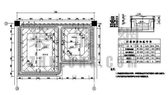 某四星级酒店游泳池、按摩池平面图