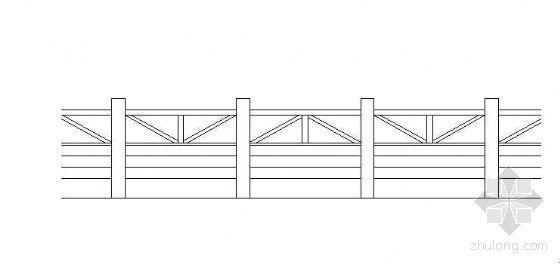 某木平台栏杆大样图