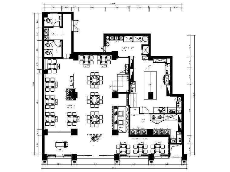 [福建]全国知名连锁餐饮店设计施工图(含效果图、材料表)