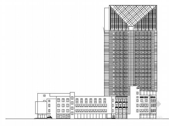 [宁波]高层框架筒体结构五星级酒店建筑施工图