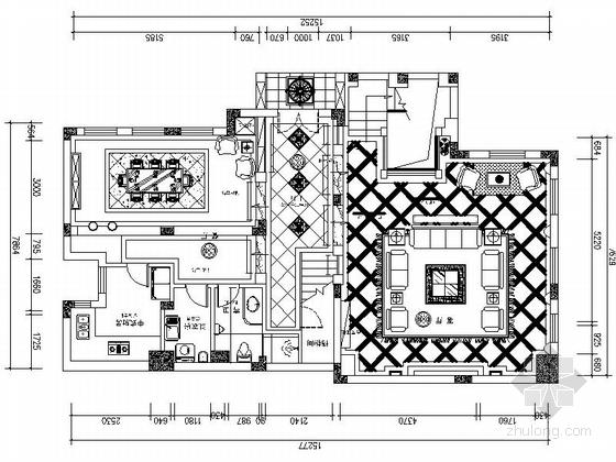 [北京]欧式豪华温馨3层别墅室内设计CAD图
