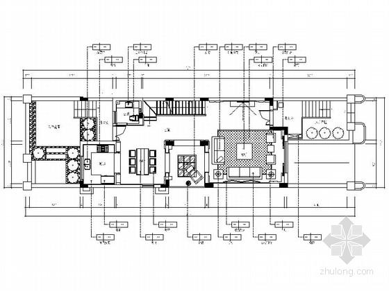 [浙江]新城区风景合院新中式三层别墅室内装修施工图