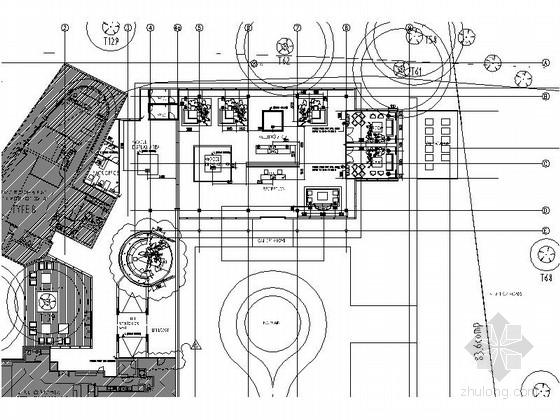 高级现代风格售楼部装修施工图(含效果)
