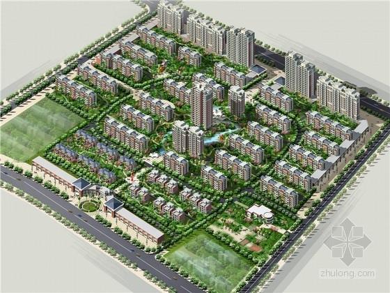 [山东]现代风格花园式住宅小区规划方案文本(海外知名事务所)