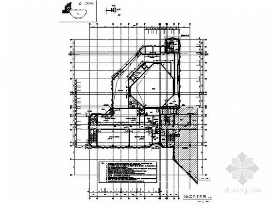 [上海]现代风格大学图书馆建筑施工图(甲级设计院含人防设计)-现代风格大学图书馆建筑平面图