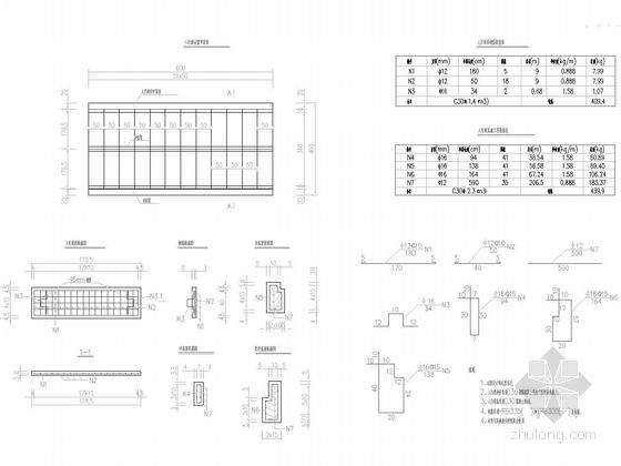 [湖南]30米宽四车道市政道路图纸全套173张附计算书(排水绿化照明交安空心板桥)-4m人行道