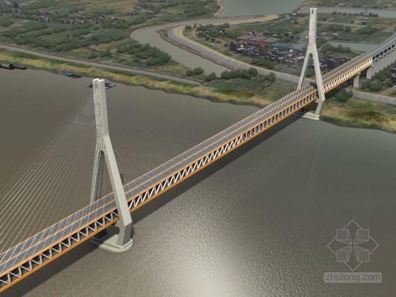 双塔五跨连续钢桁梁斜拉桥工程施工动画演示(23分钟 画面高清)