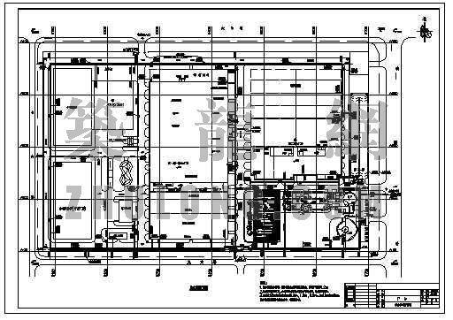 某汽车厂区给排水总平面图