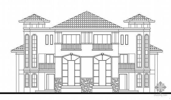 某三层双拼欧式别墅建筑设计方案