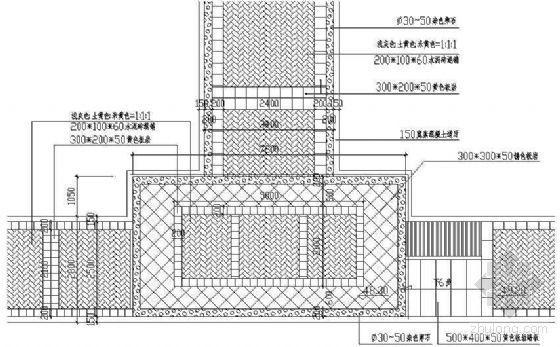 入口铺装平面图4