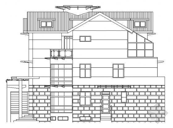 钢结构别墅建筑施工图