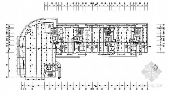 某花园21#商住楼给排水全图