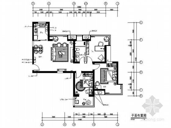 楼盘三居样板房东户型装修图