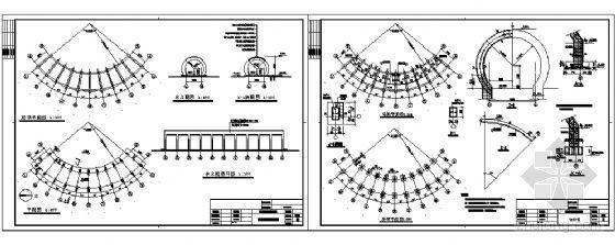风雨长廊建筑结构详图-4