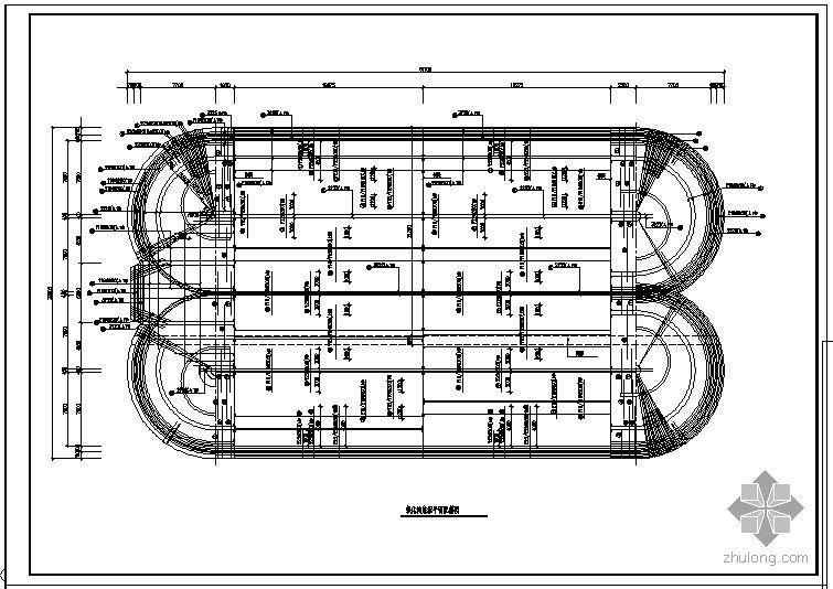 某污水厂氧化沟配筋节点构造详图