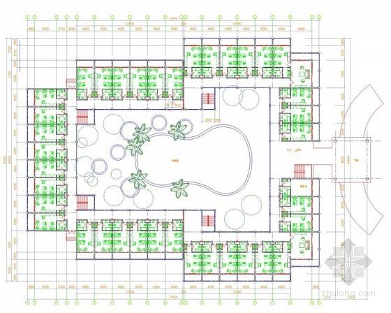 [海南]温泉度假酒店电气装饰平面图纸