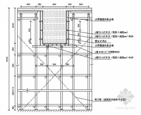 [山东]框剪结构商业楼高大模板工程专项施工方案(153页 附计算书)
