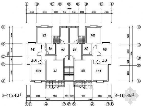 三室两厅一厨两卫115平米