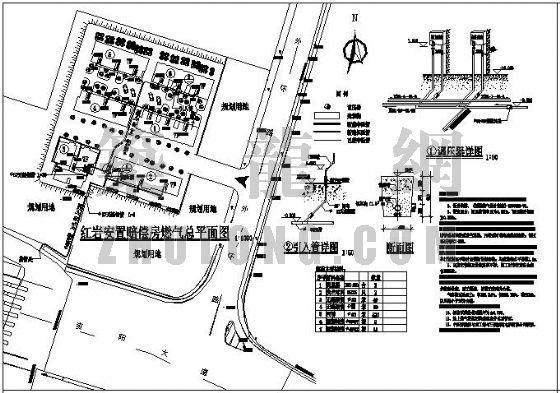 某小区庭院天然气设计图