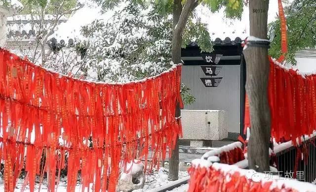 最美不过初雪,宿迁的项王故里就变成了西楚古城_20
